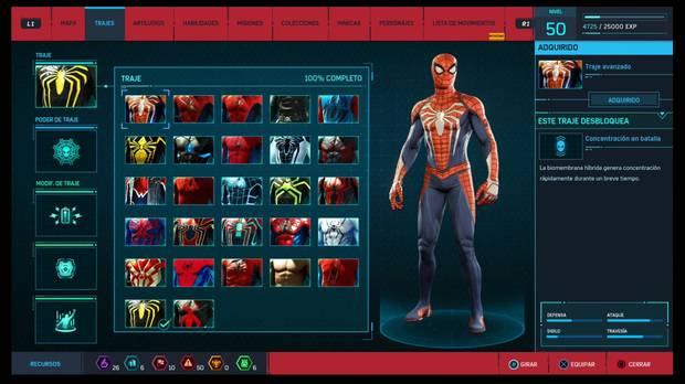 Marvel's Spider-Man - Trajes: Traje avanzado