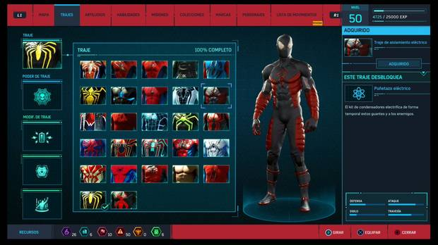 Marvel's Spider-Man - Trajes: Traje de aislamiento eléctrico