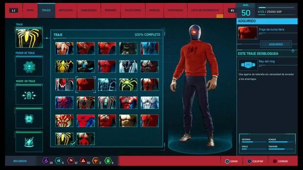 Marvel's Spider-Man - Trajes: Traje de lucha libre