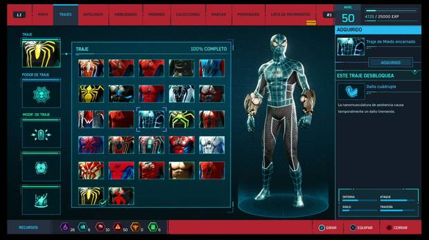 Marvel's Spider-Man - Trajes: Traje de Miedo encarnado