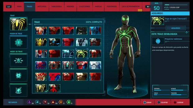 Marvel's Spider-Man - Trajes: Traje de sigilo demasié