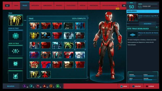 Marvel's Spider-Man - Trajes: Spider-armadura: traje Mk.III