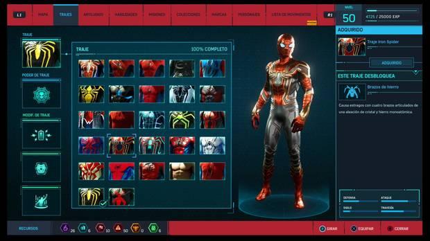 Marvel's Spider-Man - Trajes: Traje de Iron Spider