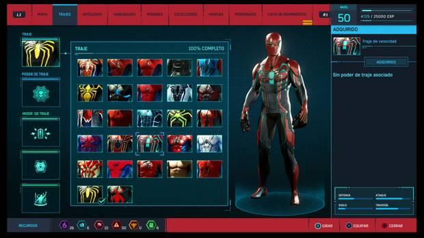 Marvel's Spider-Man - Trajes: Traje de velocidad