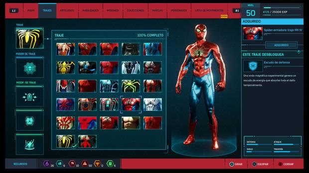 Marvel's Spider-Man - Trajes: Spider-armadura: traje Mk.IV