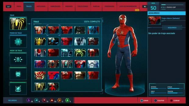 Marvel's Spider-Man - Trajes: Traje clásico (dañado)