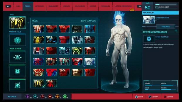 Marvel's Spider-Man - Trajes: Spider-fantasma