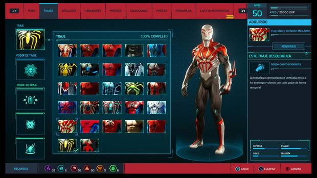 Marvel's Spider-Man - Trajes: Traje blanco de Spider-Man 2099