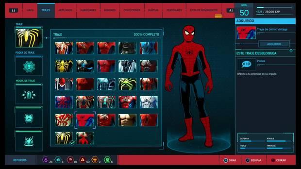 Marvel's Spider-Man - Trajes: Traje de cómic vintage