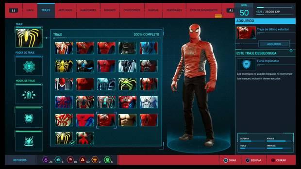 Marvel's Spider-Man - Trajes: Traje de último estertor