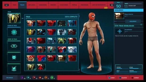 Marvel's Spider-Man - Trajes: Ropa interior