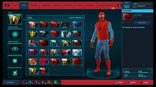 Marvel's Spider-Man - Trajes: Traje casero