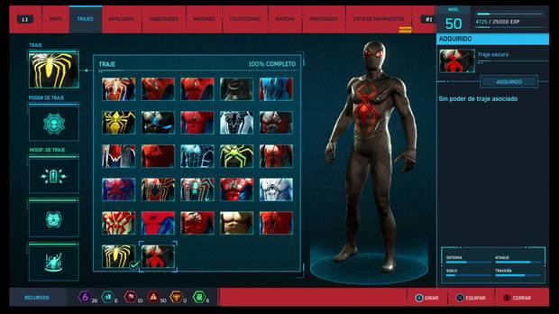 Marvel's Spider-Man - Trajes: Traje oscuro