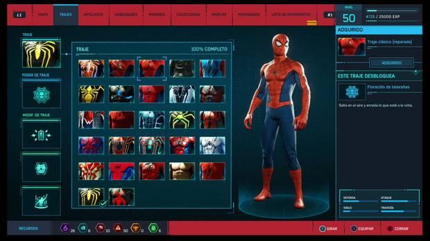 Marvel's Spider-Man - Trajes: traje clásico (reparado)