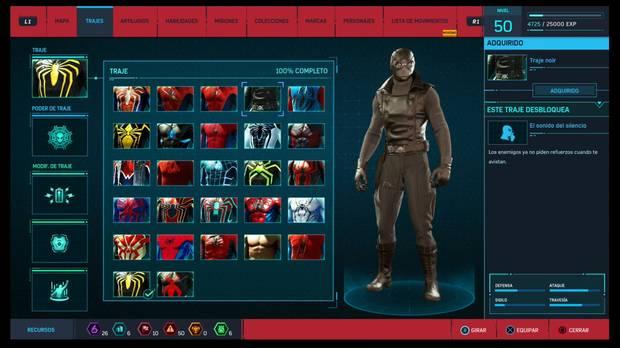 Marvel's Spider-Man - Trajes: Trajes noir