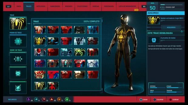 Marvel's Spider-Man - Trajes: Spider-armadura: traje MK.II