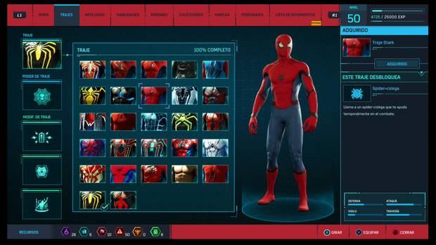 Marvel's Spider-Man - Trajes: Traje Stark