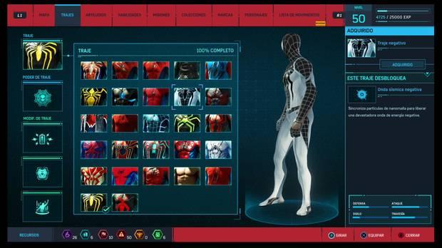 Marvel's Spider-Man - Trajes: Traje negativo