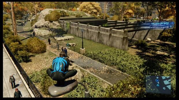 Marvel's Spider-Man - Misión secundaria La cuna de gata: ubicación de la entrada a la guarida