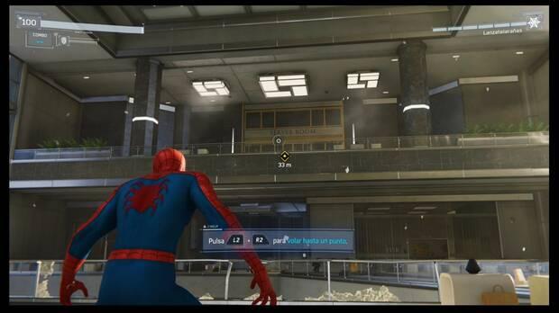 Marvel's Spider-Man - Misión principal El evento principal: salta a la barandilla para continuar
