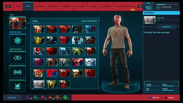 Marvel's Spider-Man - Trajes: Traje ESU