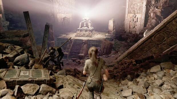 Shadow of the Tomb Raider - Prólogo: camina por la cornisa hasta el altar