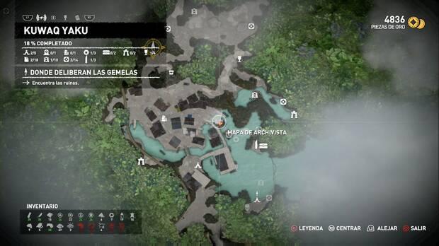 Shadow of the Tomb Raider - Localización del Mapa de archivista