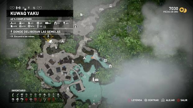 Shadow of the Tomb Raider - Donde deliberan las gemelas: ubicación al terminar de recoger los coleccionables