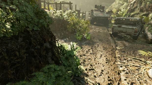 Shadow of the Tomb Raider - Donde deliberan las gemelas: gira a la izquierda para evitar el camión