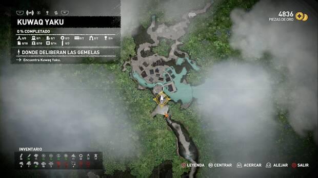 Shadow of the Tomb Raider - Donde deliberan las gemelas: mapa de Kuwaq Yaku
