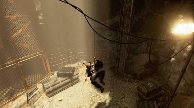 Shadow of the Tomb Raider - La senda de los vivos: baja por el pozo haciendo rápel