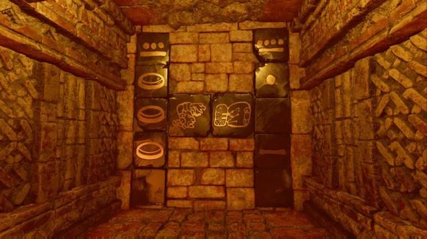 Shadow of the Tomb Raider - La senda de los vivos: símbolos de la puerta izquierda