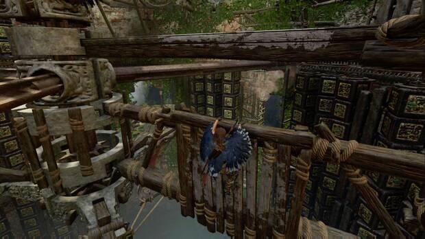 Shadow of the Tomb Raider - El camino a la ciudad oculta: escala con cuidado de las piezas giratorias