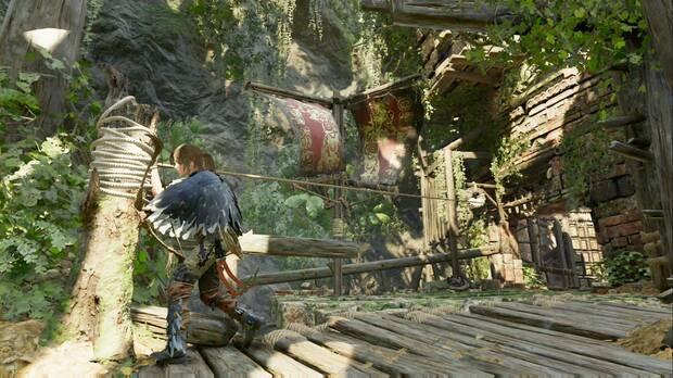 Shadow of the Tomb Raider - El camino a la ciudad oculta: engancha ambos rollos para evitar que la puerta caiga