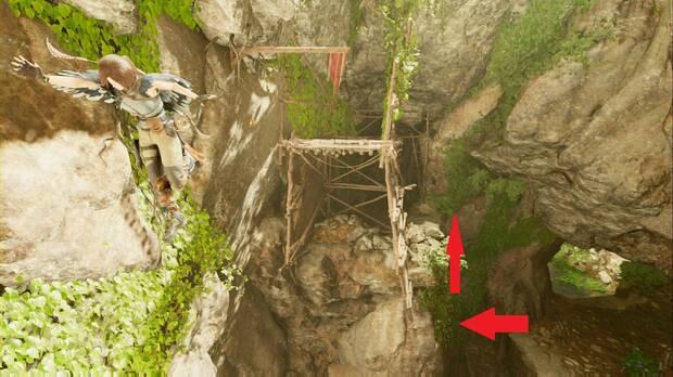 Shadow of the Tomb Raider - El camino a la ciudad oculta: balancéate con la viga para seguir