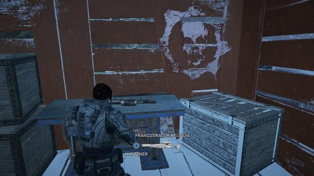 Gears of War 5 - armas reliquia: Francotirador reliquia