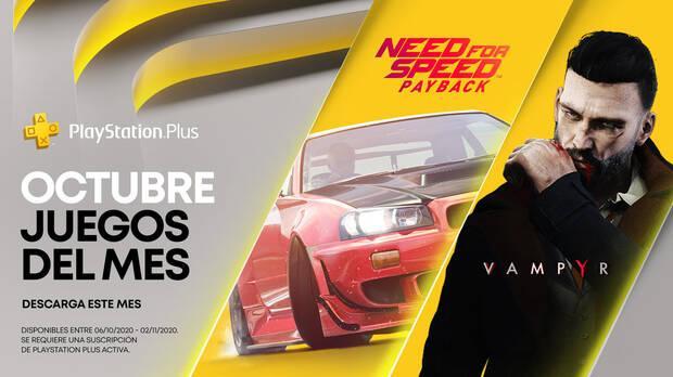 Ya disponibles los juegos gratis de PS Plus de octubre: Vampyr y Need for Speed: Payback Imagen 2