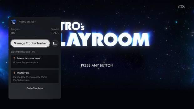 Nuevo tracker de trofeos en PS5.
