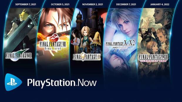 Cinco Final Fantasy llegan a PS Now.