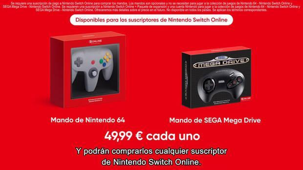Mandos de Nintendo 64 y Mega Drive para Switch.
