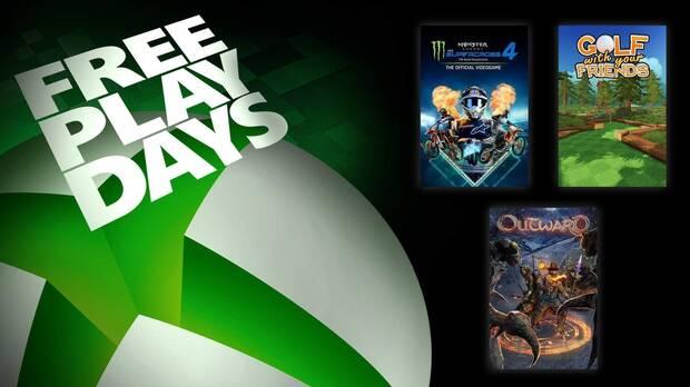 Free Play Days de Xbox Live Gold del 24 al 26 de septiembre.
