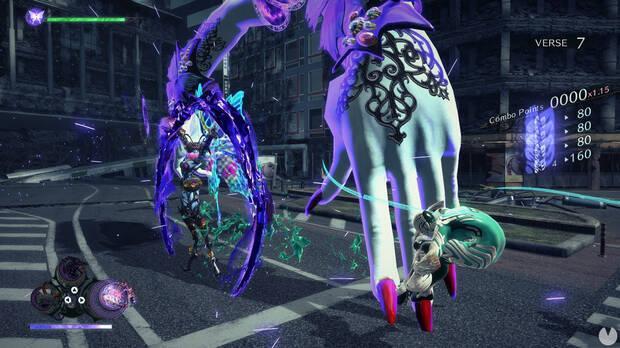 Captura de la jugabilidad de Bayonetta 3.