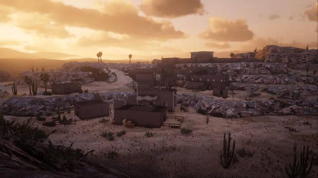 Escalera en Red Dead Redemption 2.