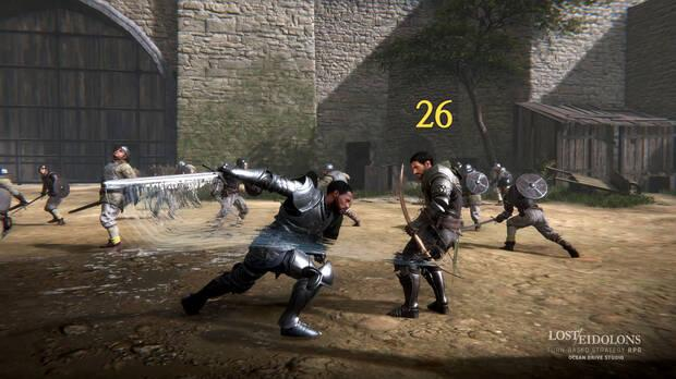 Captura de la jugabilidad de Lost Eidolons