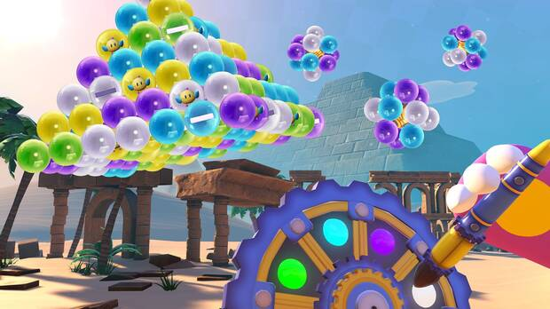 Puzzle Bobble VR gameplay
