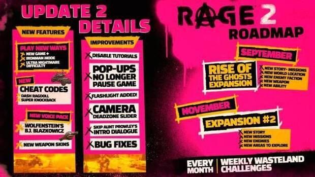 RAGE 2 añade New Game+, estrena su calendario de expansiones y se luce en un nuevo tráiler Imagen 2