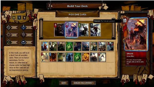 Gwent: The Witcher Card Game detalla su modo Arena Imagen 2