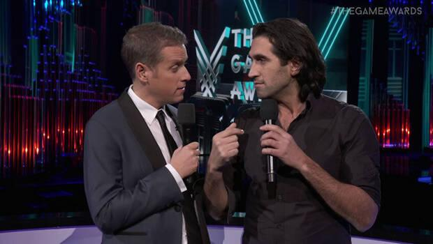 Geoff Keighley and Josef Fares at The Game Awards gala.