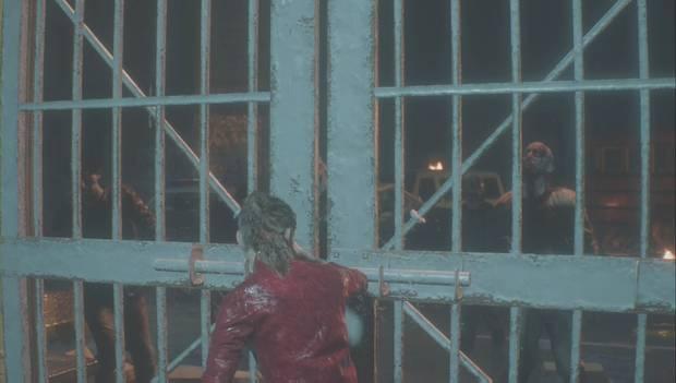 Resident Evil 2 - Prólogo/Claire: Claire cierra la puerta de la comisaría