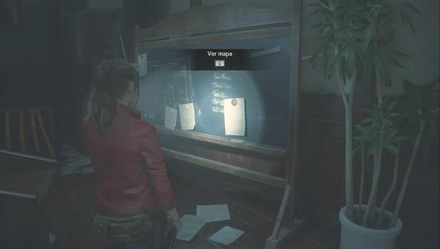 Resident Evil 2 - Encuentra los 3 medallones: Mapa de la comisaría